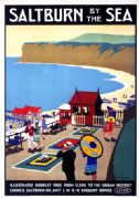Saltburn by the Sea, Yorkshire. Vintage LNER Railway Travel poster by Henry George Gawthorn.
